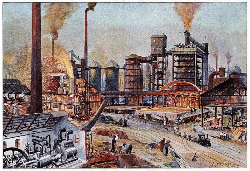 19th Century ironworks, Germany, artwork