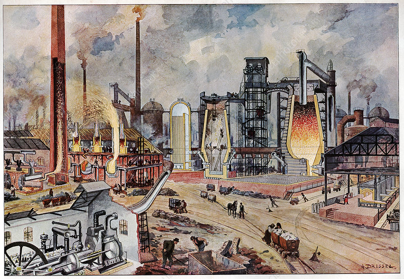 19th Century ironworks, Germany, artwork