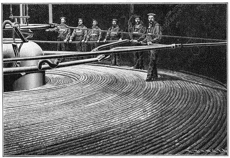 Field's trans-Atlantic cable, artwork
