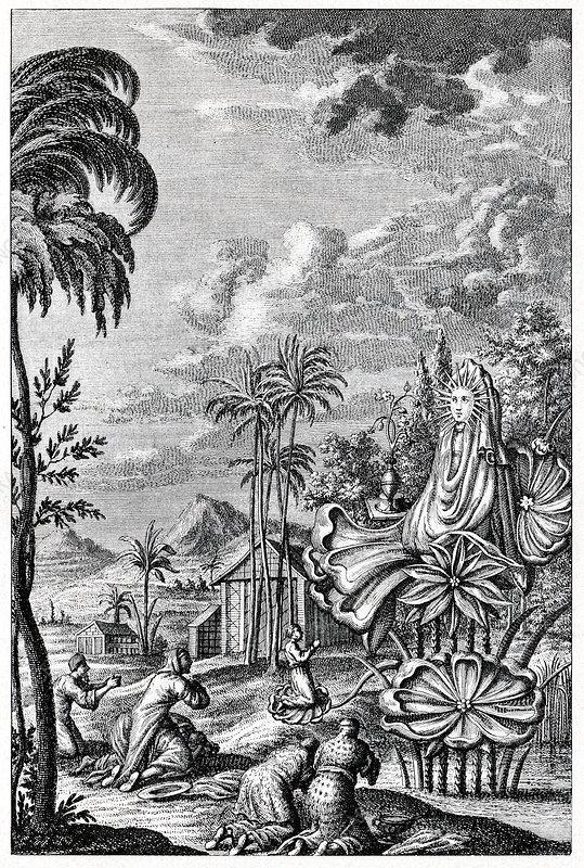 Sun worship in Babylonia, artwork