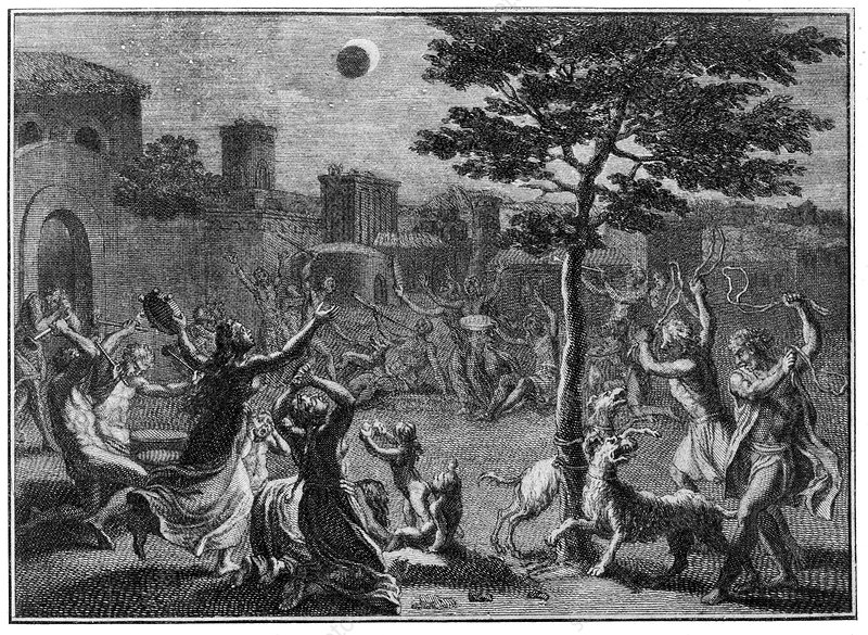 Lunar eclipse, historical artwork