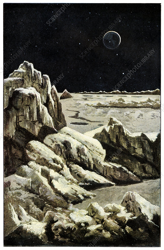 Earth from the Moon, historical artwork