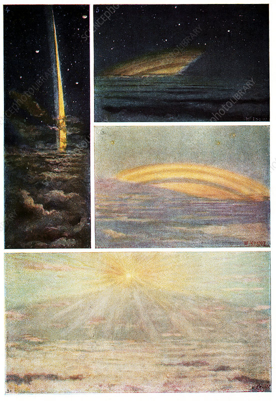 Saturn's rings, historical artwork