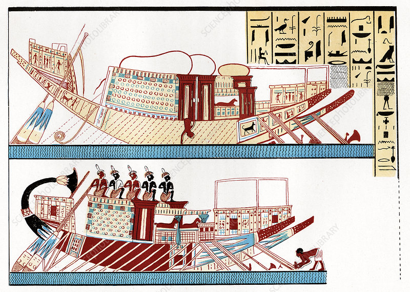 Ancient Egyptian ships, artwork