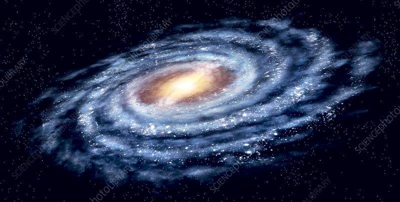 Milky Way galaxy, artwork