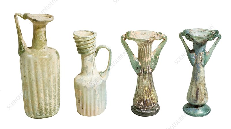 4th century glass juglets and bottles
