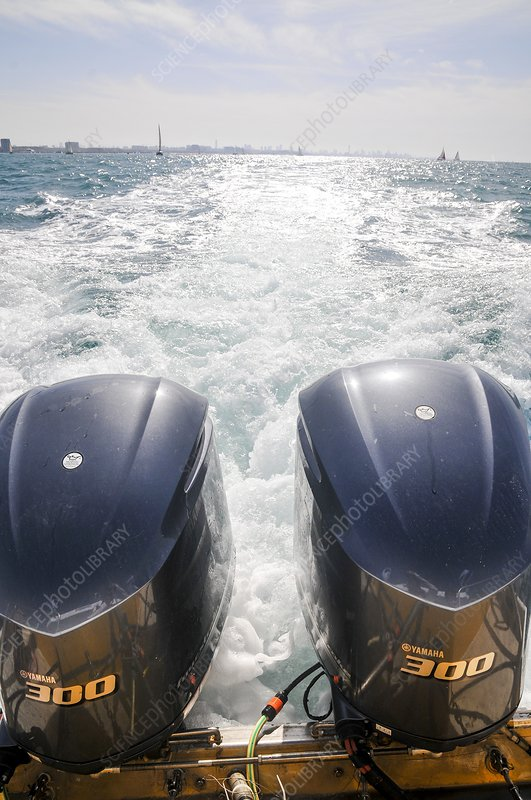 Two outboard engines