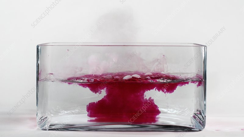 Caesium reacting with water (4 of 5)