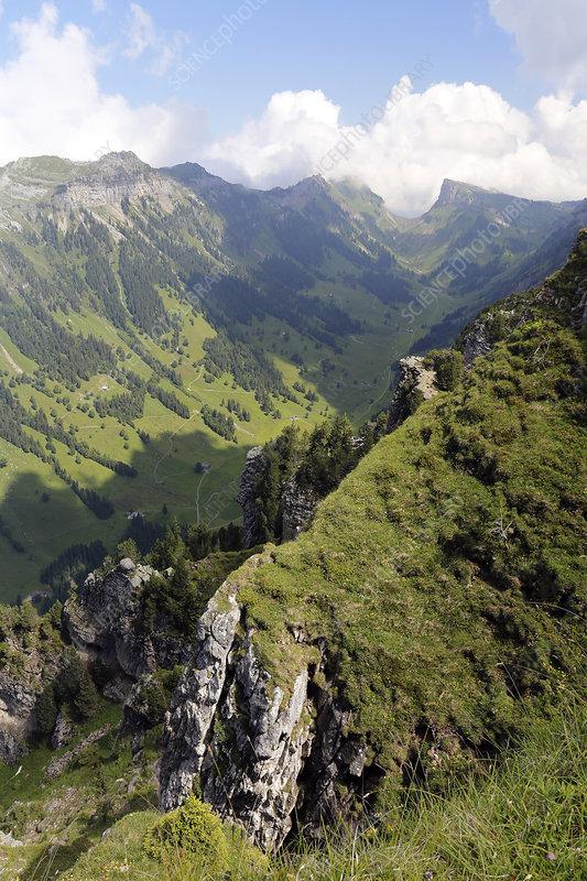 Mountain valley, Switzerland
