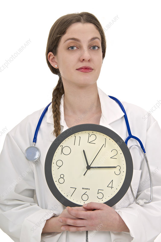 Medical time, conceptual image
