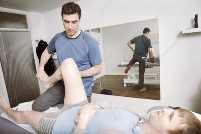 Hip and knee physiotherapy