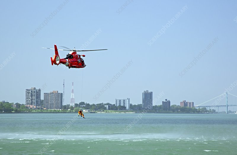 Coast Guard water rescue demonstration
