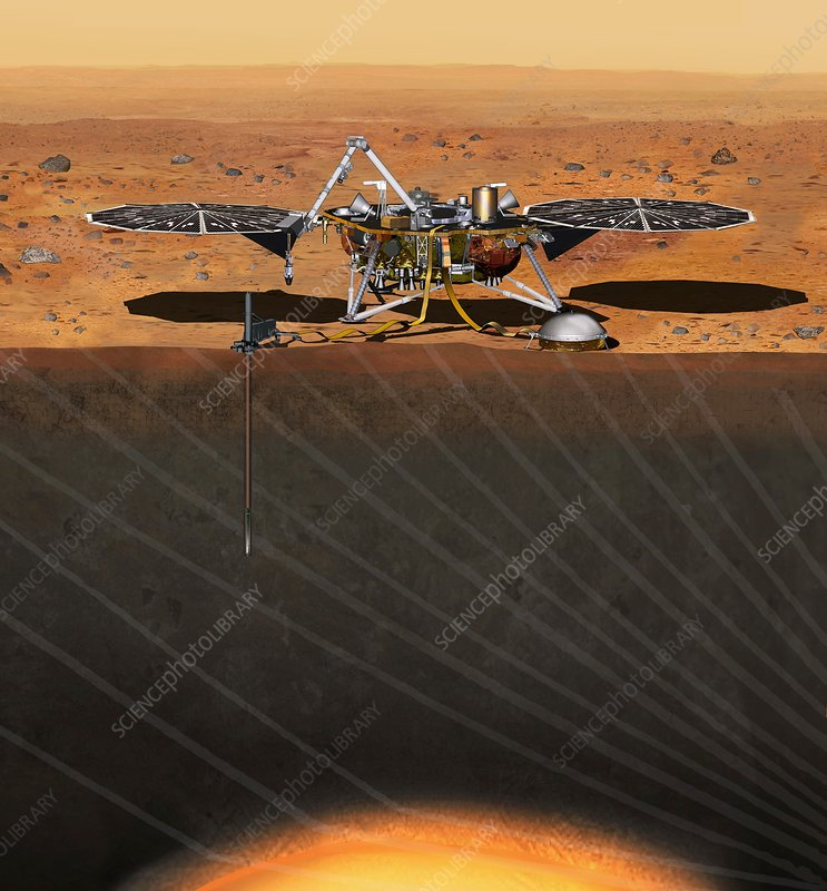 InSight Mars lander, artwork