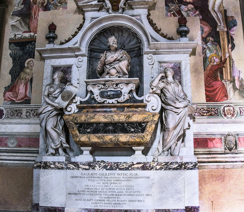 Galileo's tomb, Florence, Italy