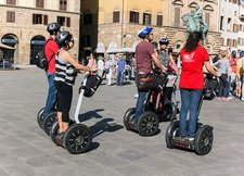 Tourists on Segways, Florence, Italy