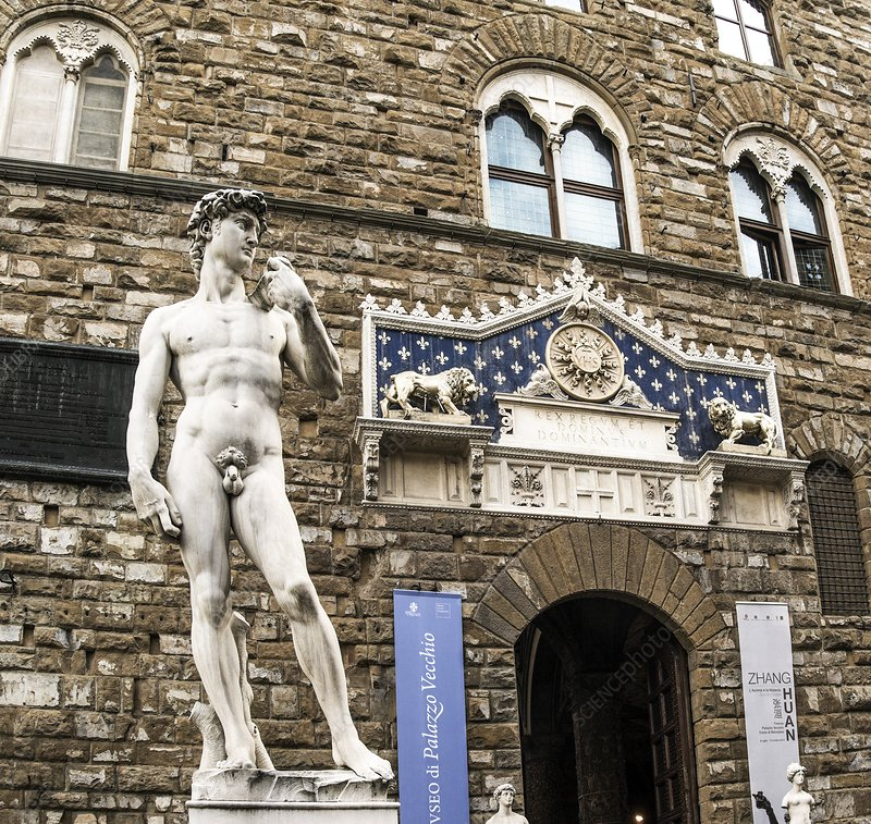 Replica of Michelangelo's David, Italy