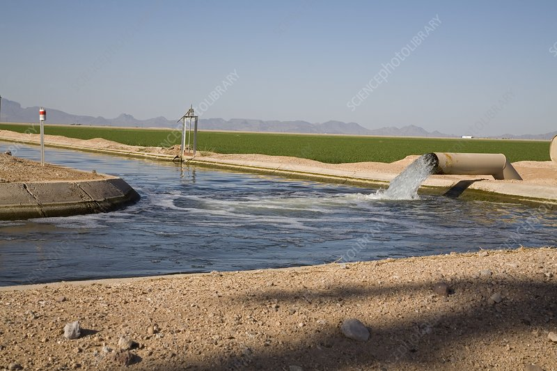 Irrigation canal in Arizona, USA