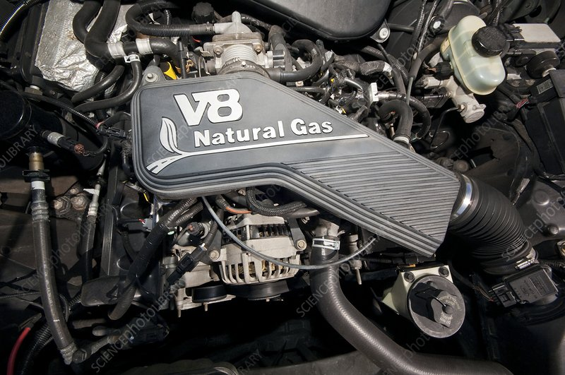 Compressed natural gas vehicle engine