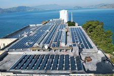 Solar power at Alcatraz, USA