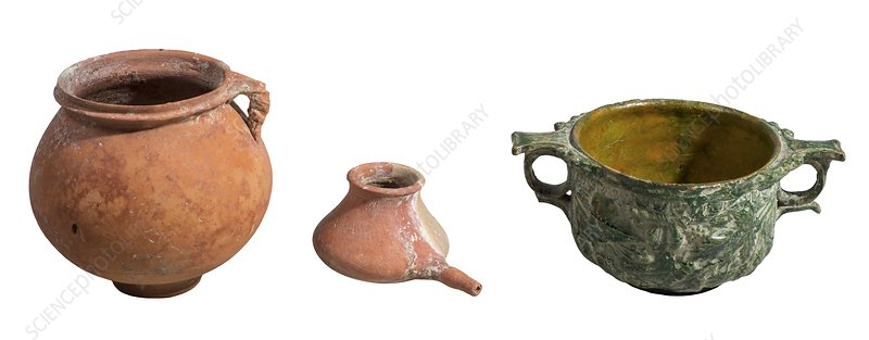 Nabatean clay vessels