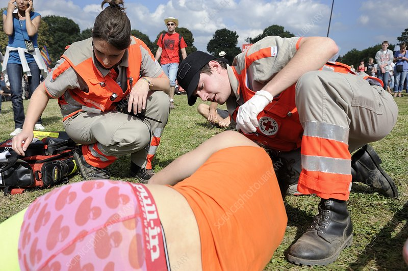 First aid at music festival