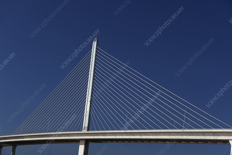 Cable-stayed bridge, Ohio, USA