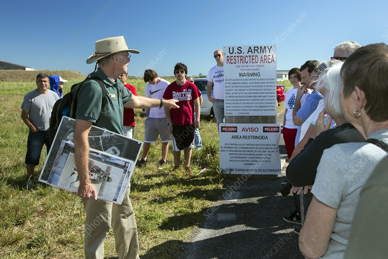 Tourists at historic missile base, USA