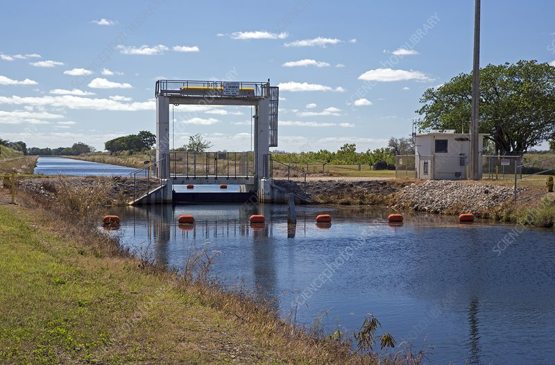 Canal sluice gate