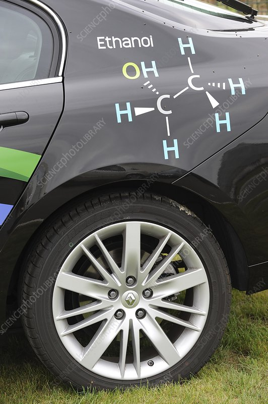 Ethanol-fuelled car