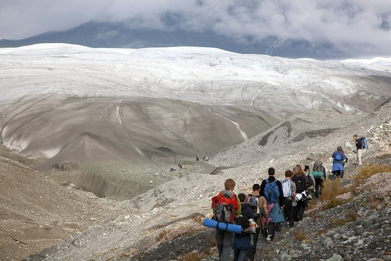 Hiking trip to a glacier