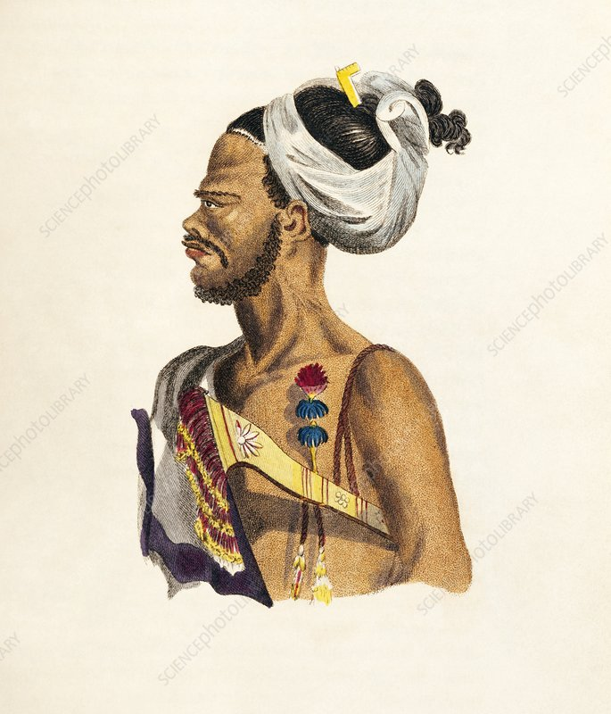Malay man, 19th century artwork