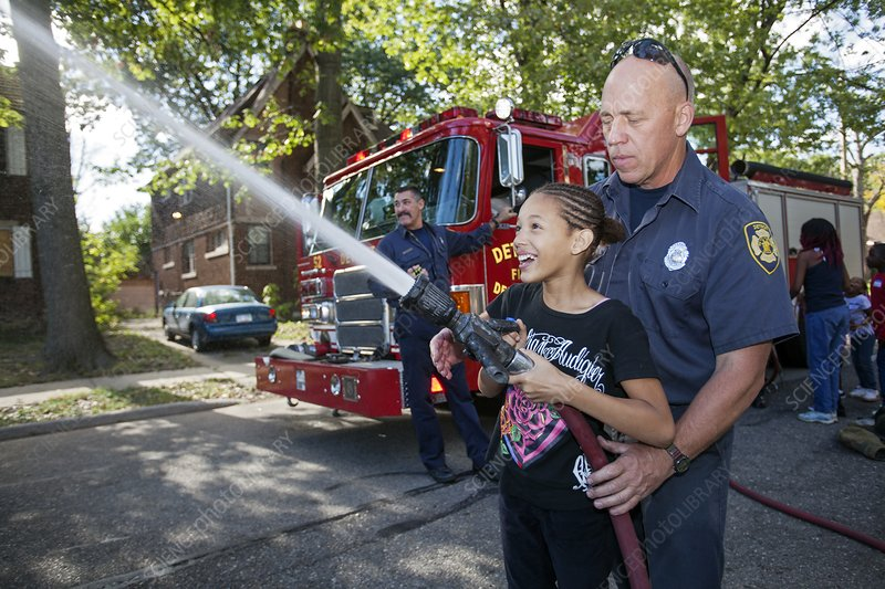 Fire fighting educational outreach