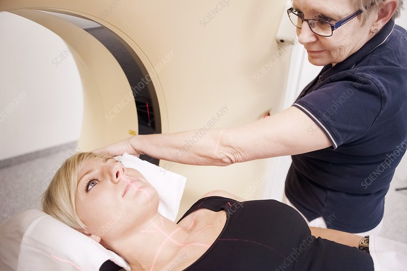 Preparing patient for a CT scan