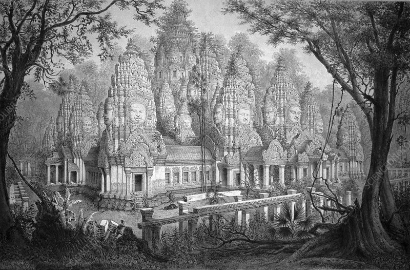 Angkor Wat, Cambodia, illustration