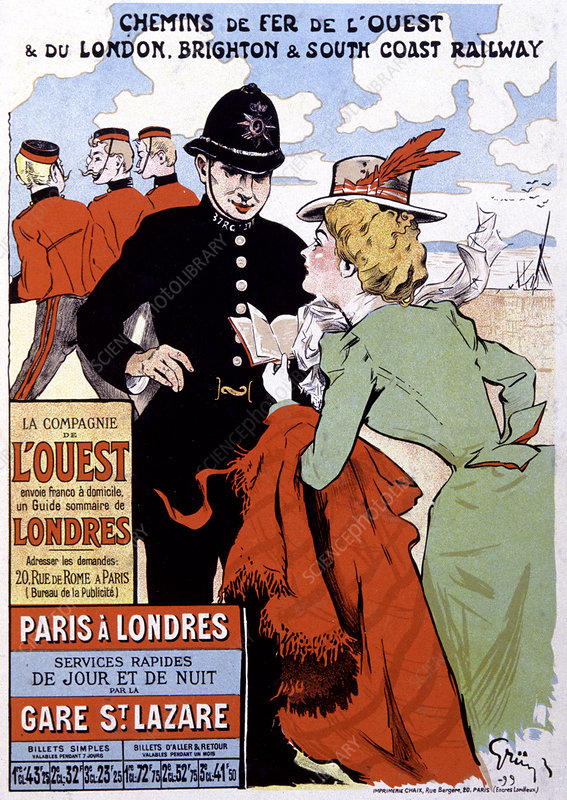 French travel advertising poster