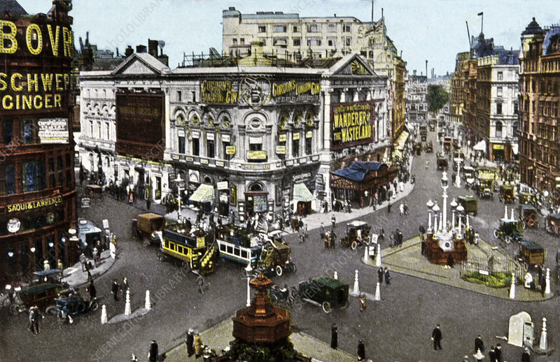 Piccadilly Circus, UK, historical image