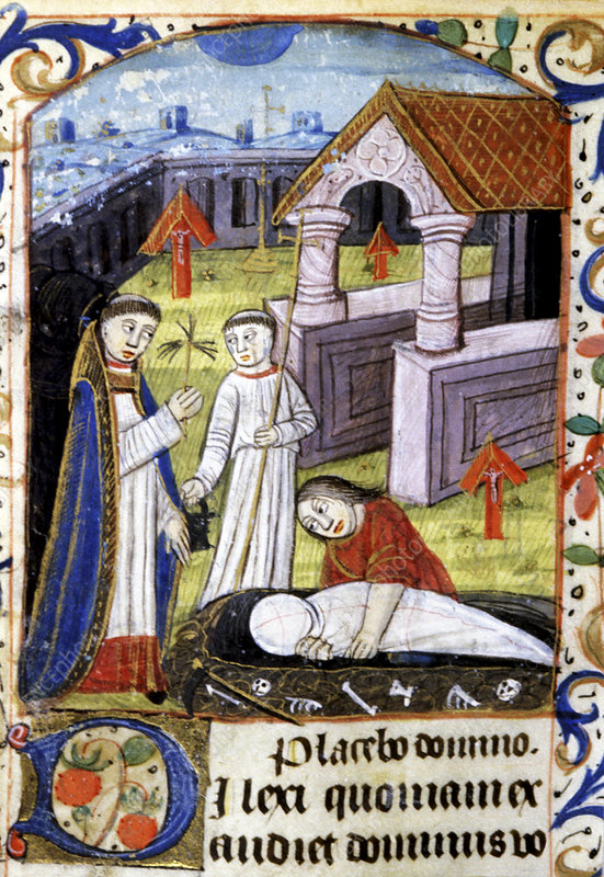 Mediaeval funeral, illustration