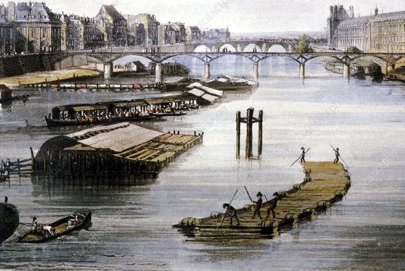 19th Century Paris, France, illustration