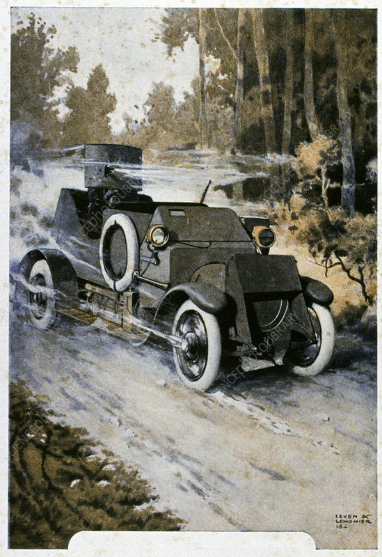 First World War vehicle, illustration