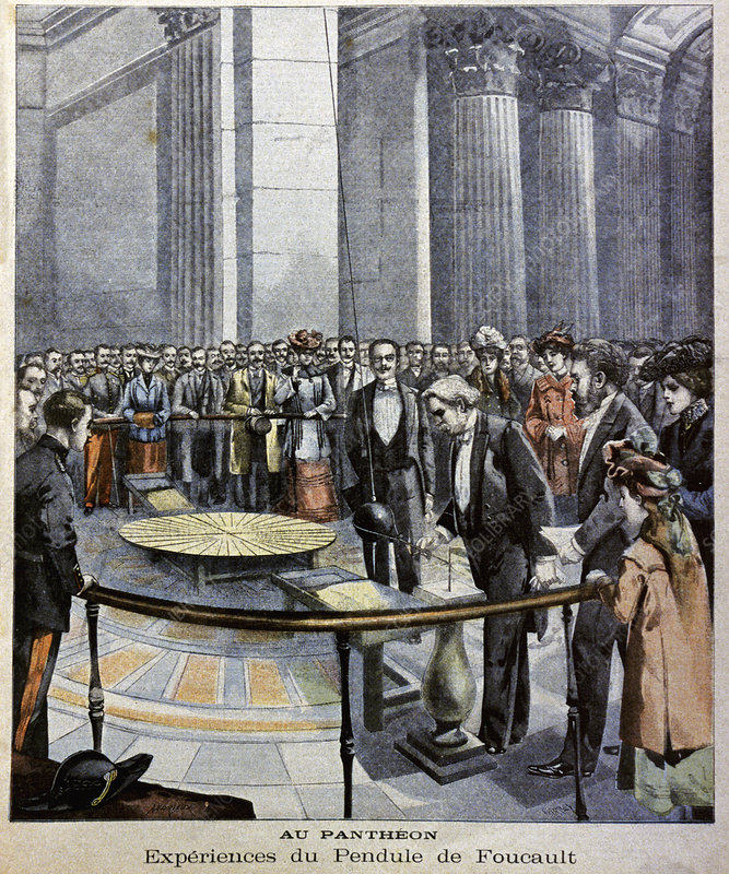 Foucault's pendulum, Paris, illustration