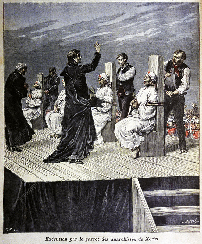 La Mano Negra executions, illustration