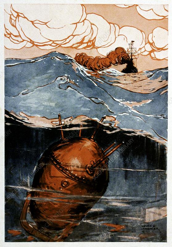 First World War naval mine, illustration