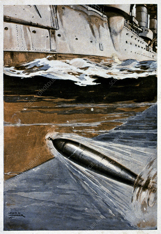 First World War torpedo, illustration