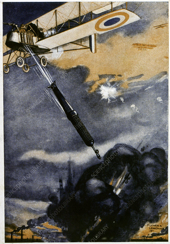 First World War bombing, illustration