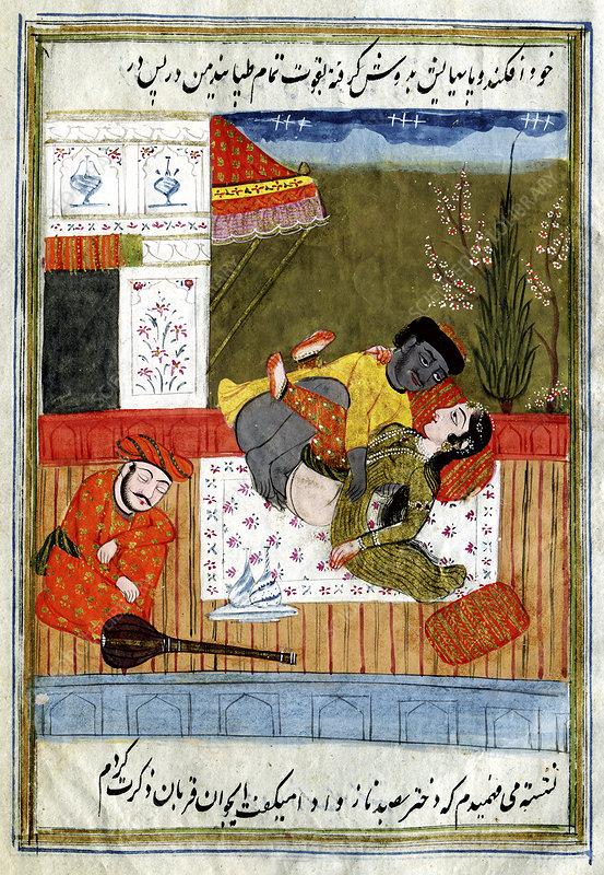 Erotic indian story, illustration