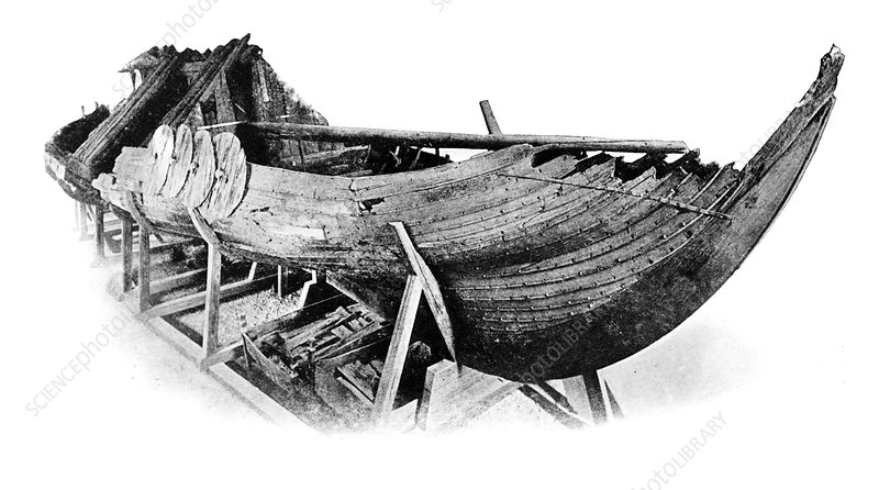 Gokstad Viking ship, historical image