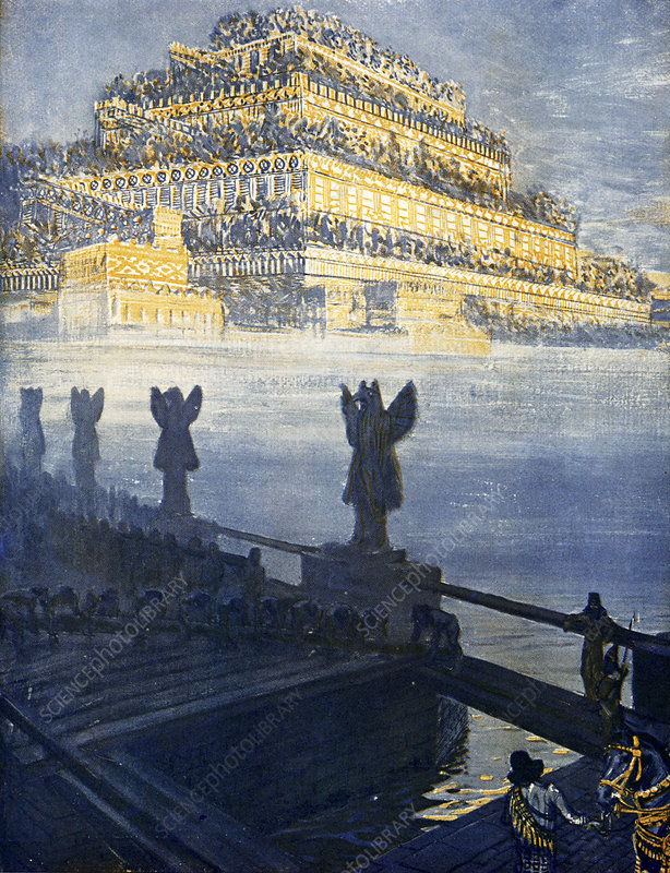Hanging Gardens of Babylon, illustration