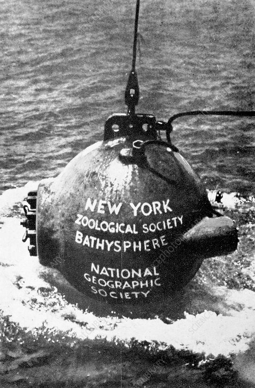 Bathysphere, historical image