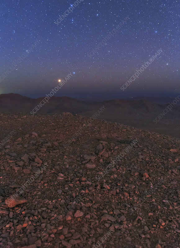 Mars in opposition, Chile