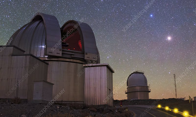 Mars and La Silla Observatory, Chile